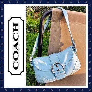 👛 COACH Soho Blue Leather Shoulder Bag